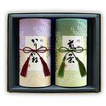 和染め缶2缶セット(特上かりがね茶、特上八女茶)